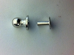 Nickel Solid Brass Rivet on Button Stud - 1309NSB