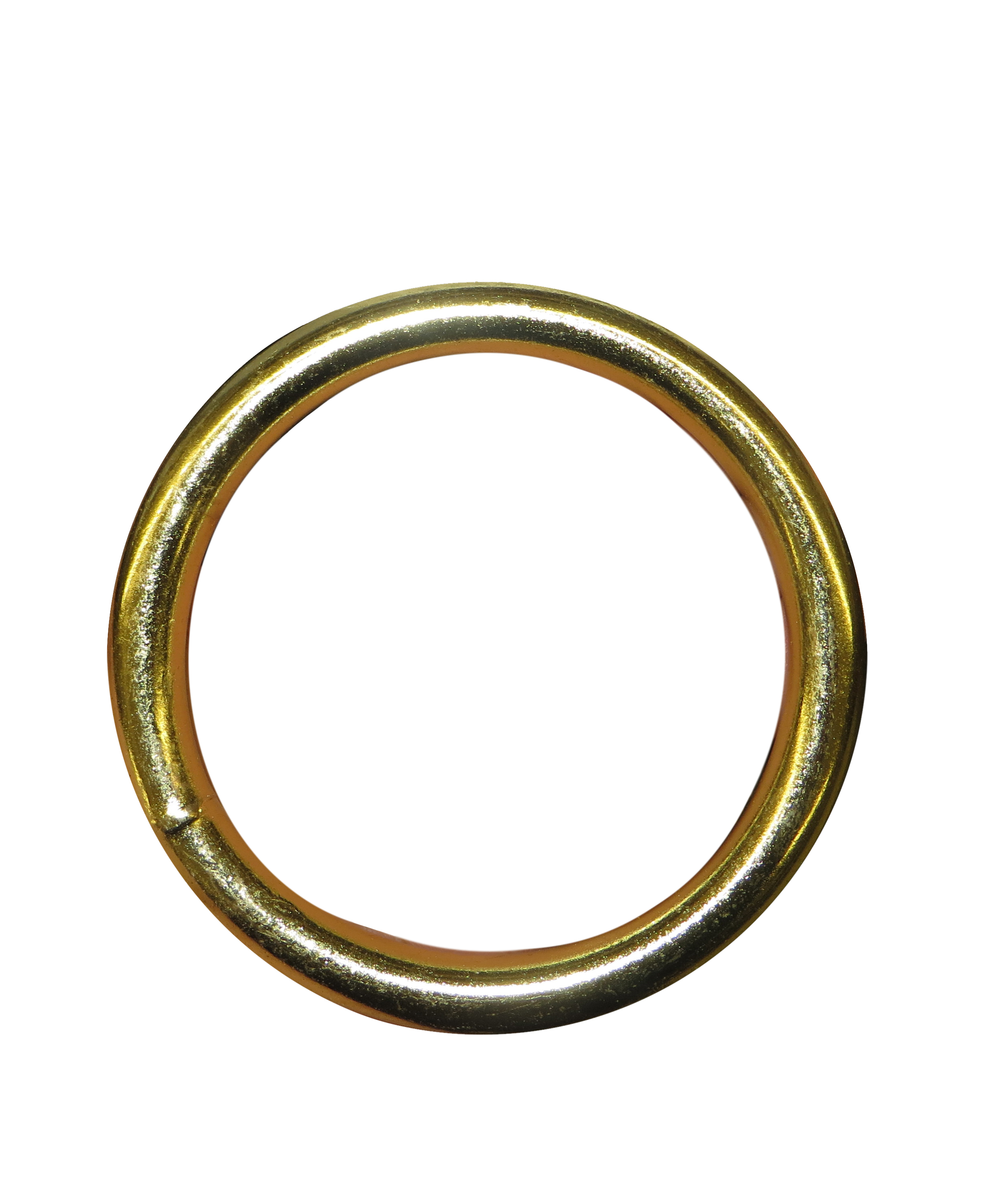 1 1 8 Quot Solid Steel Welded Quot O Quot Rings Brass Plated H535018bp