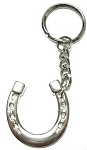 Horse Shoe Key Ring, Nickel Plated H69908