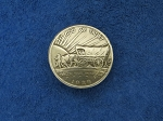 11/4'Oregon Trail Memorial Half Dollar Concho COVERED WAGON - CH918302