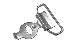 Buckle Back Ring and Hook with No Hole - 1602NH