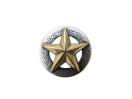 Engrave Antique Silver Concho with Texas Star - CH137518