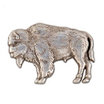 Buffalo Left Silver Plate Concho with Screw - CH743102
