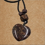 Brown Heart Necklace