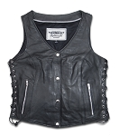 Ladies Naked Soft Cowhide Vest - MC2681