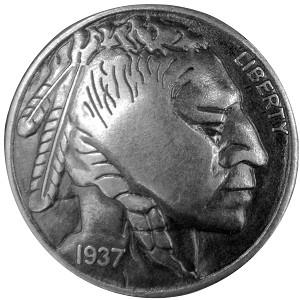 Line 24 Indian Head Nickel Snap B709301