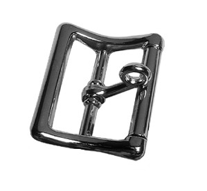 "1 1/4"" Nickle Plated Locking Imitation Roller Buckle - B115920NP"