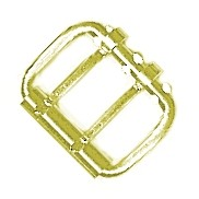 "2 1/2"" Double Tongue Steel Roller Buckle (Brass Plate) - B90040BP"