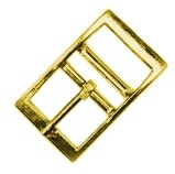 "3/4"" Solid Bronze, Square Corner, Double Bar Buckle - BS14712BZ"