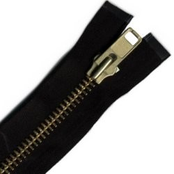 "24"" #9 Heavy Weight Brass Chap Zipper - ZP09024"