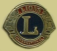 """Lions Club"" Heavy Cast Epoxy Inlay Buckle - EB2011"