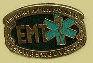 "EMT We Save Lives ""A"" Series Heavy Cast Epoxy Inlay Buckle - EB2292A"