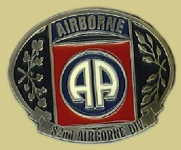 """82nd Airborne Division"" Heavy Cast Epoxy Inlay Buckle - EB2366"