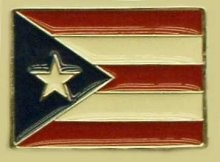 """Puerto Rico Flag"" Heavy Cast Epoxy Inlay Buckle - EB2453"