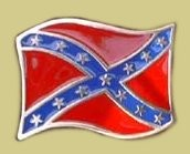 """Confederate Battle Flag"" Heavy Cast Epoxy Inlay Buckle - EB2477"