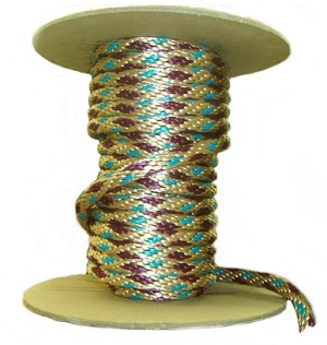 "5/8"" Santa Fe Multi-Color Poly Rope (by the ft)"