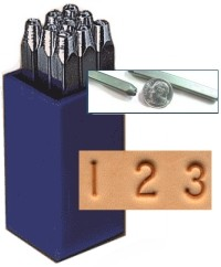 "Heavy Duty Steel Number (1/4"")"