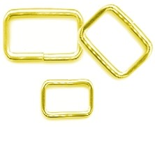 "1/2"" x 1 1/2"" Brass Plated Steel Wire Loop - H4950824BP"