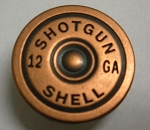 12 Gauge Shotgun Shell Casing, Copper Finish Snap - B0701CP