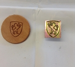 Rampant Lion Shield  3D Stamp - 88616