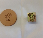 Rampant Lion Right  3D Stamp - 88617