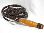 Brown Leather Braided Bullwhip 12' - 0112BR