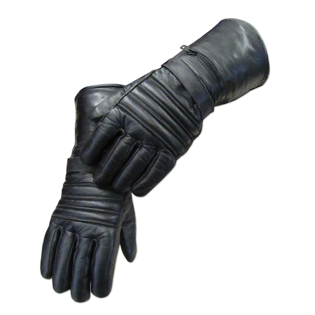 Black Gauntlet Glove with Rain Cover - MC1226