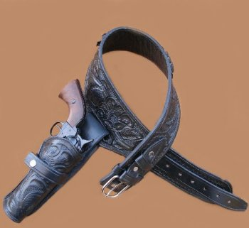 Holster on Leather Dog Harness
