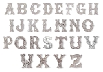 Sterling Silver on Solid Brass Screw On Letters (A - Z) - 1339
