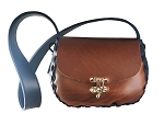 Medium Handbag Navy and Chocolate Crazy Horse