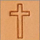 Cross Medium 3-D Stamp