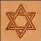 Star of David Medium 3-D Stamp