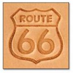 Route 66 Medium 3-D Stamp