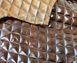 Brown Quilted Top Grain Upholstery - ZZQ56BN