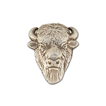 Buffalo Open Face Silver Plate Concho with Screw Back - CH743100