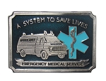 "Emergency Medical Service ""A"" Series Heavy Cast Epoxy Inlay Buckle - EB2236A"