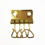 4 Hook Brass Plate Key Plate - H1170BP