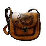 Large Oval Hand Bag with Horse Head- ML033HH