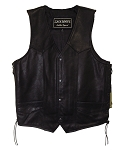 Premium ZWL Basic Side Lace Top Grain Vest (S - 5X) - MC0605