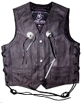 Children's Vest With Conchos - MC6016