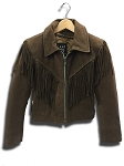 Ladies Desert Brown Jacket W/Fringe and Braid - MC8645