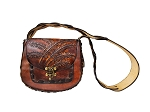Large Oval Hand Bag with Wheat Design - ML033WH