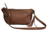 Chestnut Leather Hobo Handbag