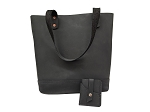 Black Ladies Tote with Wallet - MLTBBK