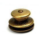 LOXX Fastener in Antique Brass on Brass