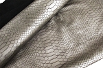 Grey Snake Embossed Fashion Leather - Z48223GY