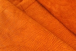 Orange Embossed Fashion Leather