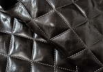 Black Quilted Top Grain Upholstery - ZZQ56BK