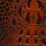 Blaze Red Hand Rubbed Alligator Print on Cowhide - ZK923BR