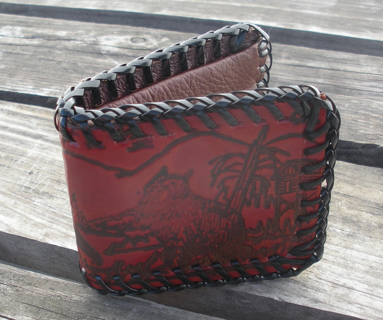 Childrens Hand Laced Cowhide Wallets with Snap - FG5611